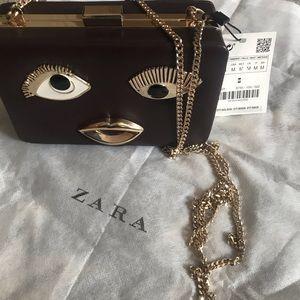 Zara Bags - Zara | Funky Artsy Chain Box Clutch